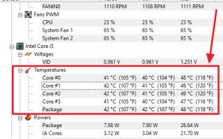 Какая должна быть температура процессора