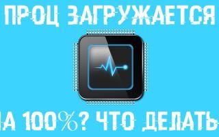 Загрузка процессора 100 процентов windows 10